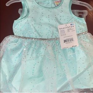 mint color girls baby dress